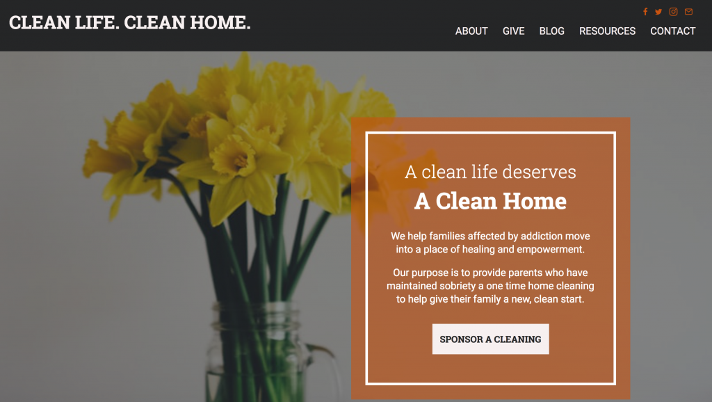 clean life clean home recovery nonprofit giving back melissa johnson my truth starts here