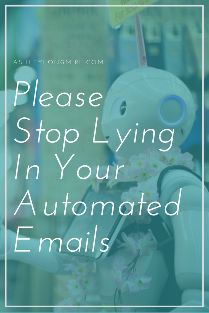 no more dishonest automated emails